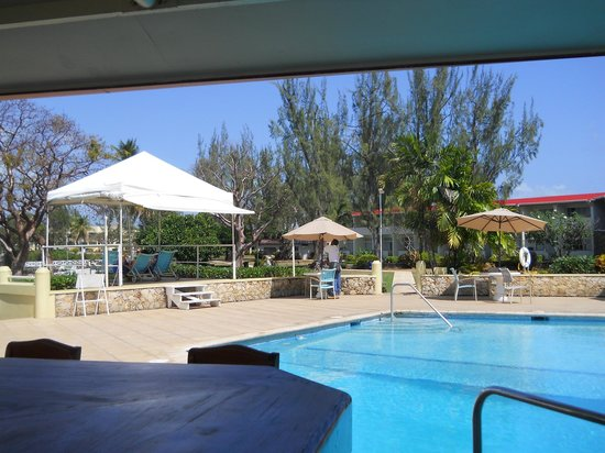 Crown Point Beach Hotel:                   Pool area