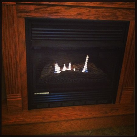 Oak Crest Cottages and Treehouses:                   LOVE the Fireplace