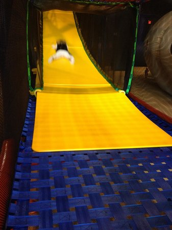 Town and Country, MO:                   Down the big slide!