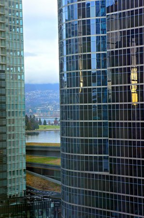 The Hotel at Terminal City Club :                   Can see Lions Gate and a bit of Stanley park in between buildings