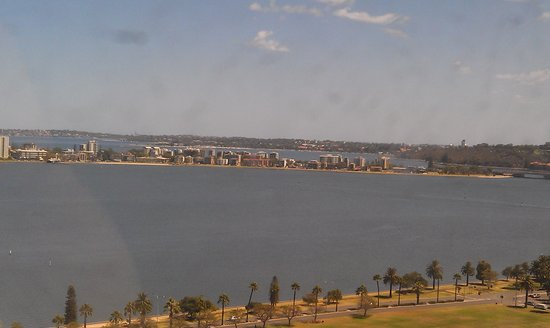 Pan Pacific Perth:                   view from 19 th floor