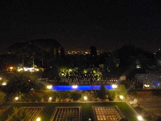 Rome Cavalieri, Waldorf Astoria Hotels & Resorts:                   view from room at night
