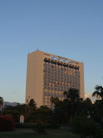 The Jamaica Pegasus Hotel:                   HOTEL. VISTA DESDE EL EMANCIPATION PARK