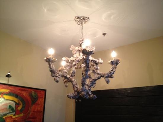 The Bohemian Hotel Savannah Riverfront, Autograph Collection:                   the chandelier in our room