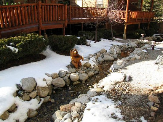 Alpenhorn Bed and Breakfast:                   A small creek that runs through the backyard