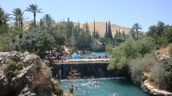 Beit She'an, Israel:                                     The high waterfall