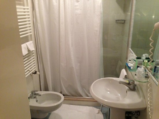 Villa Igea :                   Bathroom in 609.  Heated towel rack and shower with massage jets.