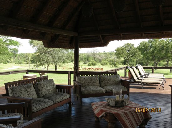 Nkorho Bush Lodge:                   Shady spots to enjoy a cool drink