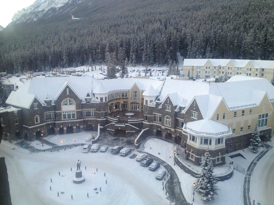 The Fairmont Banff Springs :                   Business center, view from our room 890