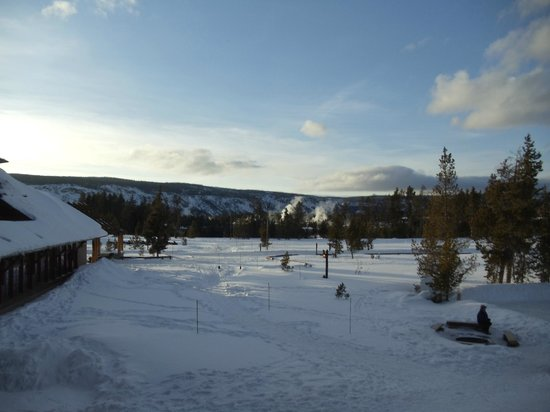 Old Faithful Snow Lodge and Cabins:                   View from the Snow Lodge Room
