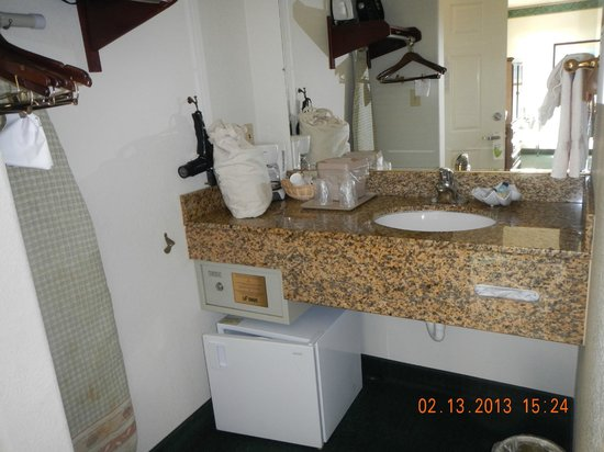 Emerald Dolphin Inn: sink fridge area