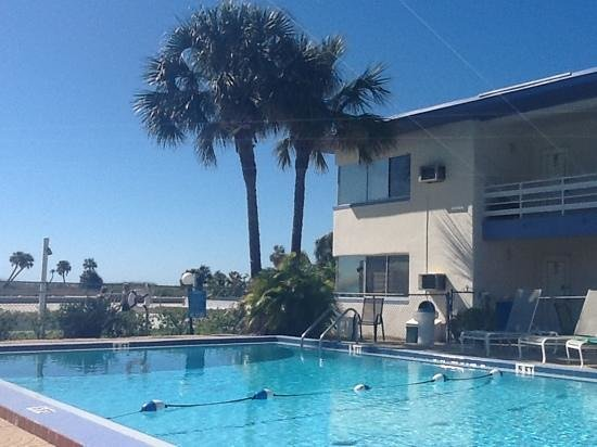 Arvilla Resort Motel Treasure Island:                   View of pool, 2nd story Gulf-front suite, & beach.