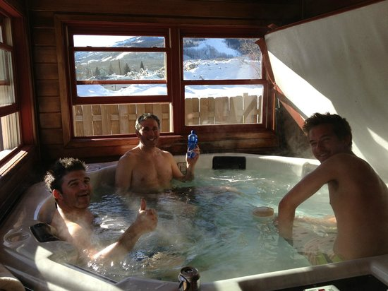 The Ruby of Crested Butte - A Luxury B&B:                   enjoying the hot tub after a day on the slopes
