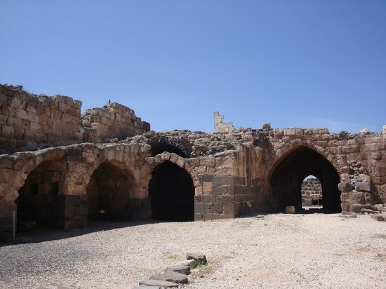 Beit She'an, Israel:                   Patio central del castillo