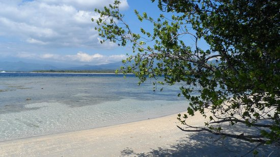 Coconut Cottages:                   la spiaggia di Gili Air