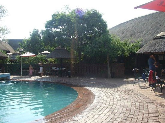 Golden Leopard Resort - Manyane:                   One of the swimming pool areas