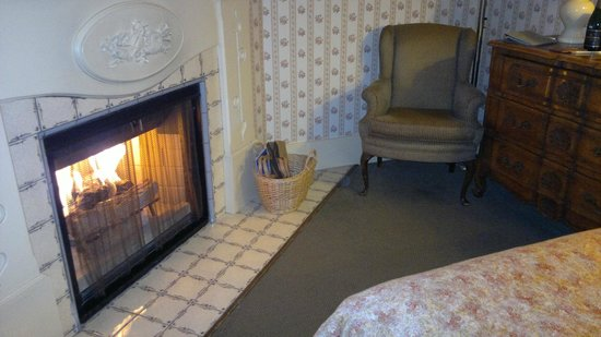 Petite Auberge: Fireplace