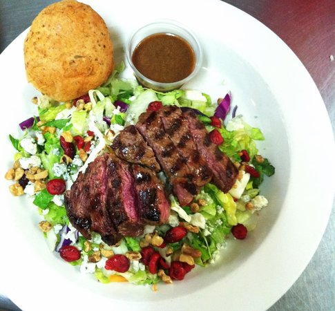 , :                   Grass-fed sirloin salad