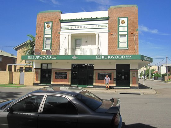                   Outside the Burwood Inn Feb 13