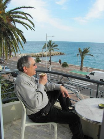 Vanille Hotel:                   Coffee with a view from our balcony......great way to relax.