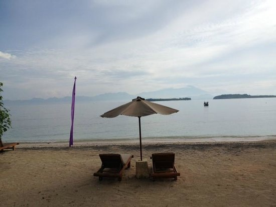 Cocotinos Sekotong, a Boutique Beach Resort & Spa:                   Views from our verandah of room 5