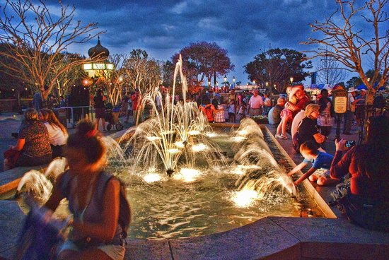 The fountains in France's section - Picture of Epcot, Orlando ...