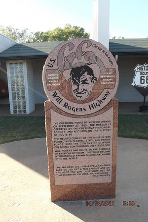 Clinton, OK:                   Will Rogers says....................