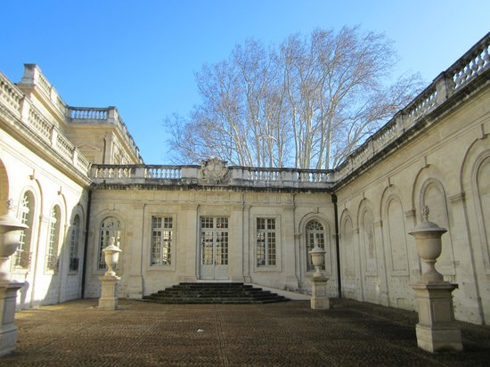 Avignon, France : Outer courtyard of Musee Calvert