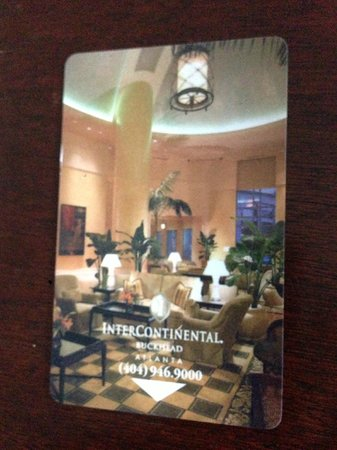 InterContinental Buckhead Atlanta: updated room key