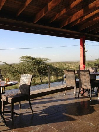 Ole - Sereni Hotel, Nairobi:                   Looking out from our table at breakfast