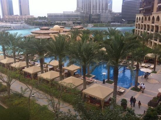 The Palace Downtown Dubai:                   from the balcony of suite 415