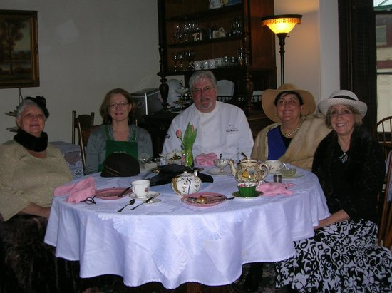 Chesapeake City, MD:                   Downton Abbey tea with hosts
