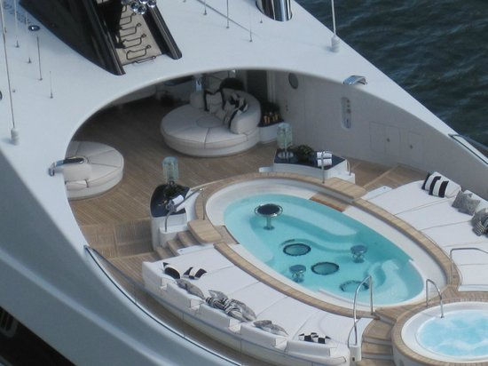 EPIC Hotel - a Kimpton Hotel:                   BALCONY VIEWS OF 100 FT. PLUS YACHT PARKED AT EPIC