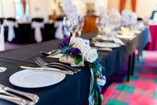Glenbervie House Hotel:                   The top table