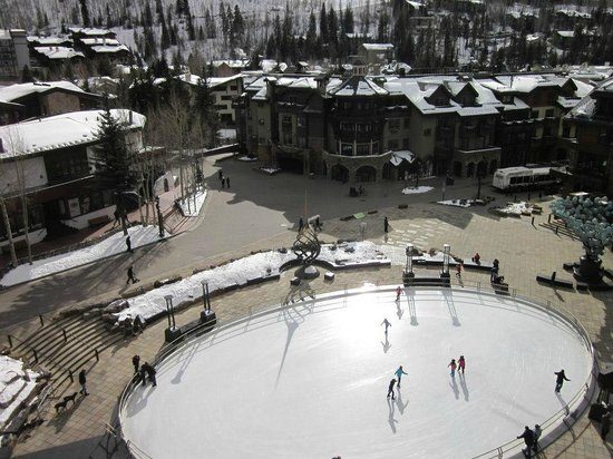 Solaris Residences:                   View of the ice rink from the master bedroom