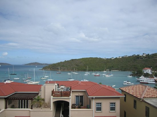 Grande Bay Resort:                   View of Cruz Bay from our Studio Balcony