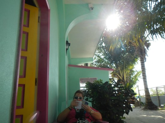 Barefoot Beach Belize:                                                       our room patio view