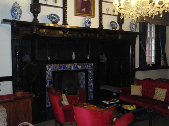 Langtry Manor Hotel:                   The area between bed and fire place