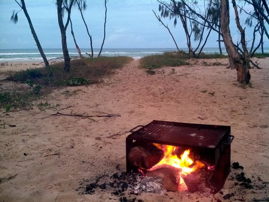 North Stradbroke Island, Australia:                   serenity - a campfire and the sounds of waves breaking