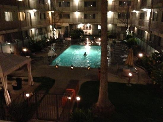 Marin Suites Hotel:                   pool at night
