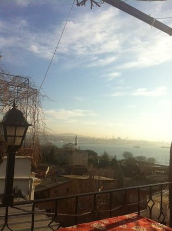 Marmara Guesthouse:                   View from outdoor sitting balcony