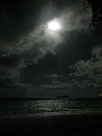 Hale &#39;Nalo Beach Rentals:                   Moonlit night