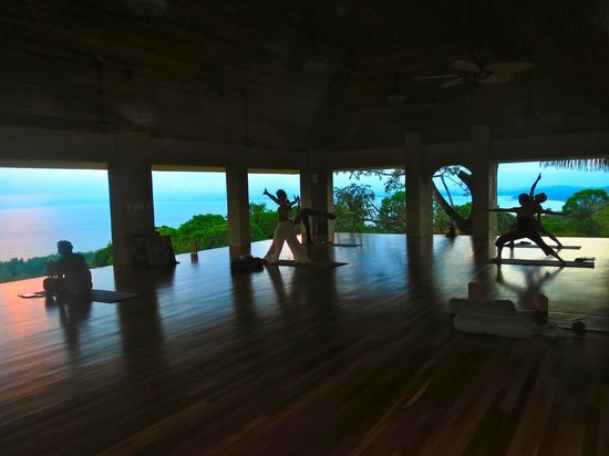 Pavones Yoga Center:                                     amazing views from the shala