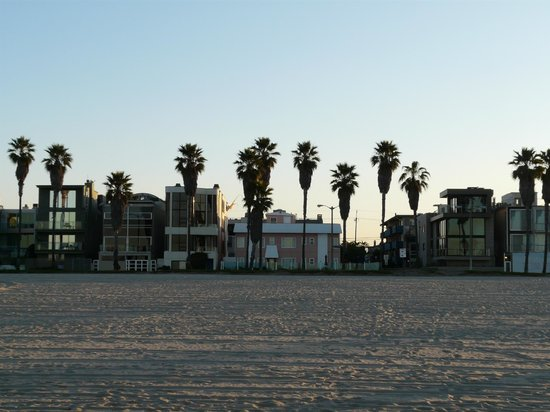                   View of Venice on the Beach hotel, early morning