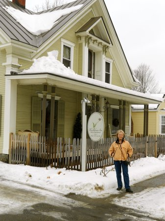 Morrisville, VT:                   My new friend, Sheila and the Thistledown Inn