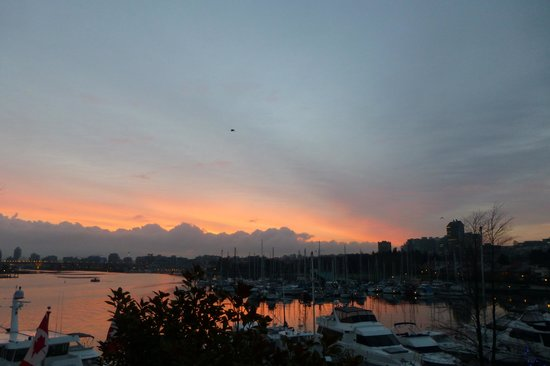 Granville Island Hotel:                   Morning Glory view from room