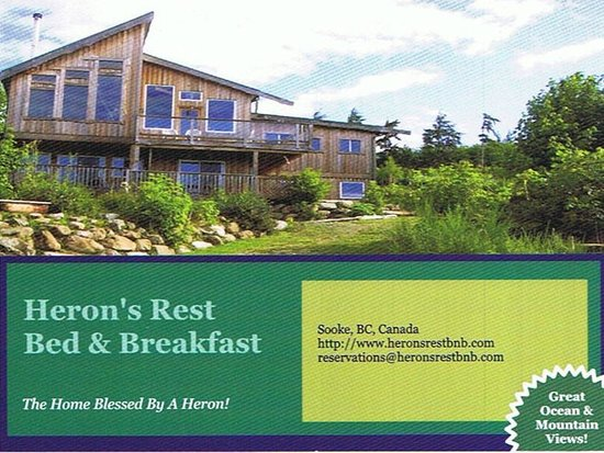 Sooke, Canada: Welcome to Heron's Rest B&B