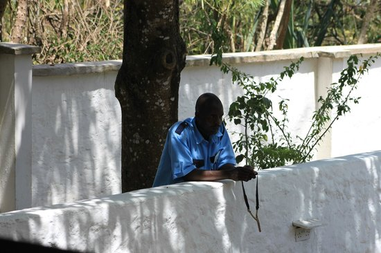 Diani Sea Lodge:                   hotel guard
