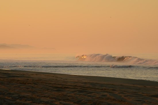 Playa Viva: Waves catching sunrise
