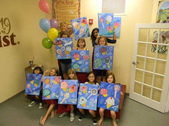 Kids parties 10 painters and the private room is yours for Private paint party